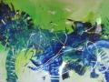 Ke 084 2014 abstraktes blaues Pferd
