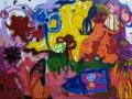 Vaziri Azadeh,Ohne titel,mixed media auf Leinwand,100&70