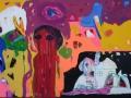 Vaziri,AzadehOhne titelMixed media auf Leinwand,100&70,Rahmen schwarz