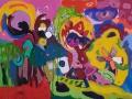 Vaziri,Azadeh,mein Welt,Mixed media auf Leinwand,50&75,Rahmen shwarz