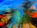 Nr. 293 abstrakte Malerei auf Leinwand 80cmx80cm