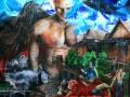 Nr. 295 Acryl Malerei auf Leinentuch 70x100cm-Chaos- - Kopie