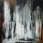 Abstrakte Acrylmalerei Bättig