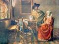 Herr und Dame beim Wein (nach Jan Vermeer)