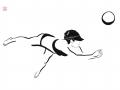 Pfisterer_Beach-Volleyball_100x70cm_Tusche-auf-Papier_2015