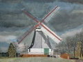 Worpsweder Mühle bei Sturm