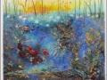 Seelandschaft 2014, 100x100 cm