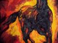 A - Pferd im Feuersturm