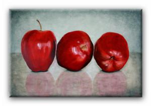 Stillleben mit Äpfeln Acrylfarben