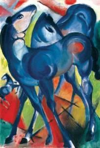Tiermalerei Blaues Fohlen