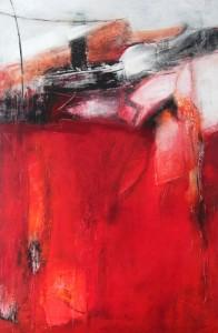 ohne Titel Acryl auf Leinwand 80x120 Petra Lorch