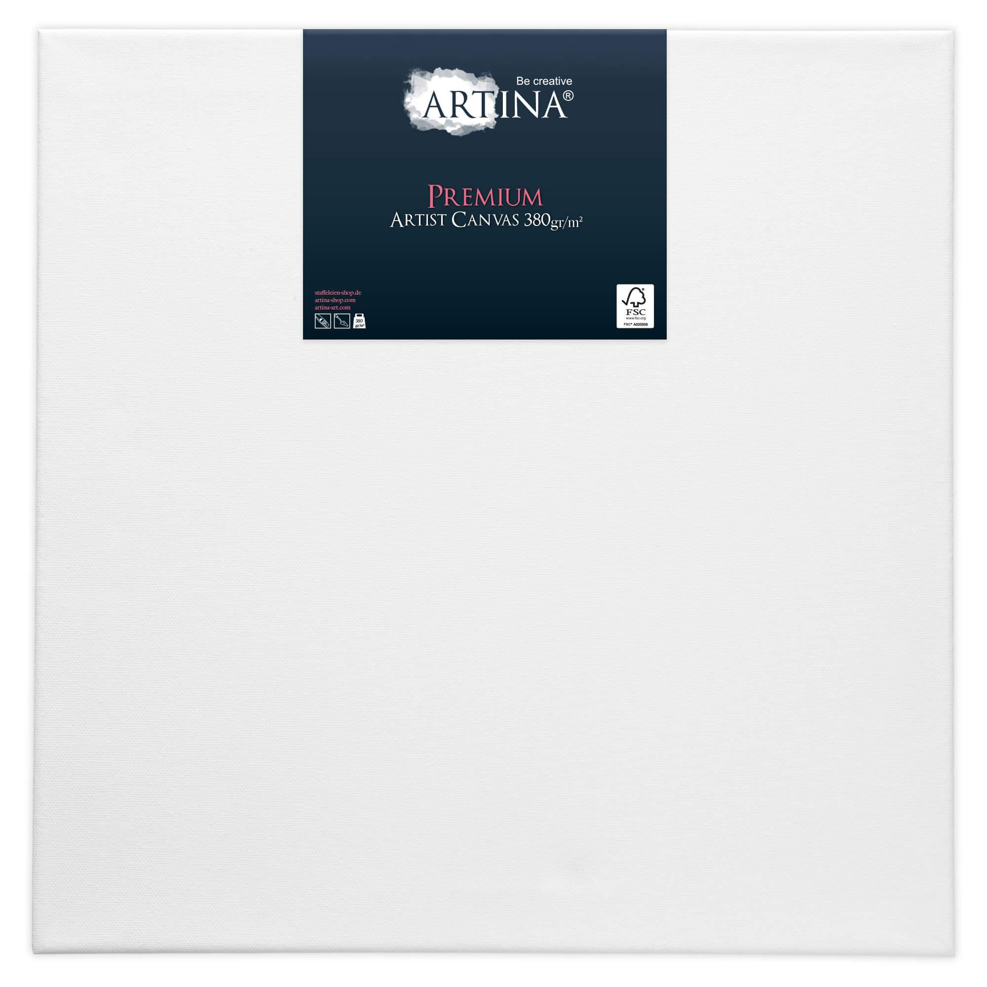 Artina Premium Keilrahmen Leinwand 80 x 80 cm