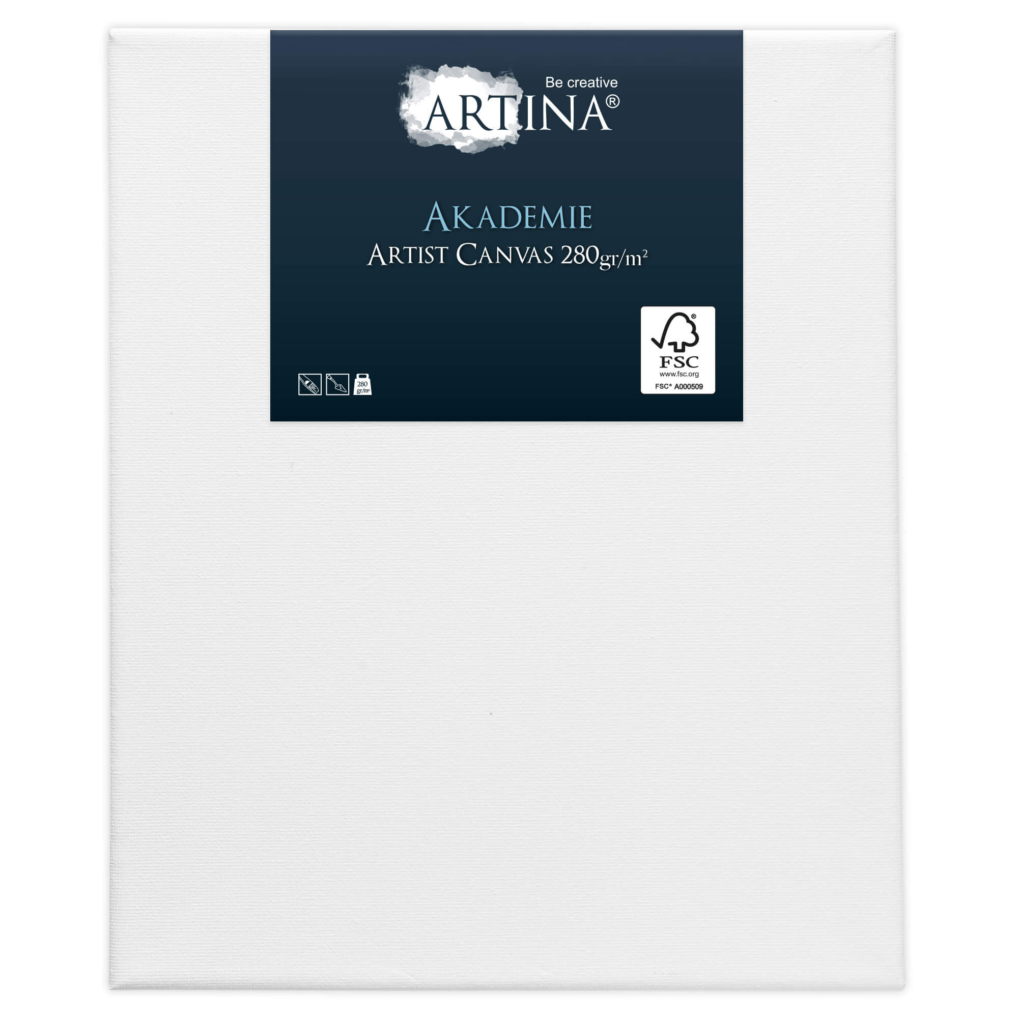 Artina Akademie Leinwand auf Keilrahmen 280g/m² - 30x40cm