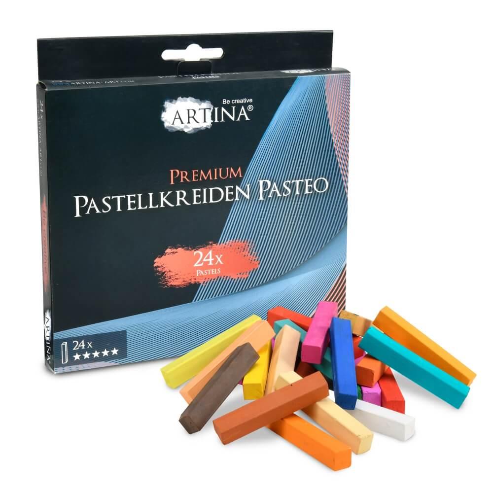 Artina 24x Premium Weichpastellkreide Pasteo