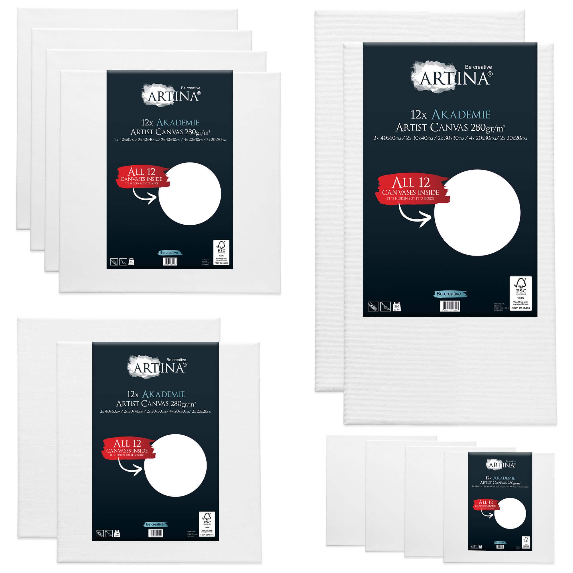12er Keilrahmen Set Artina mit FSC®-Zertifizierung