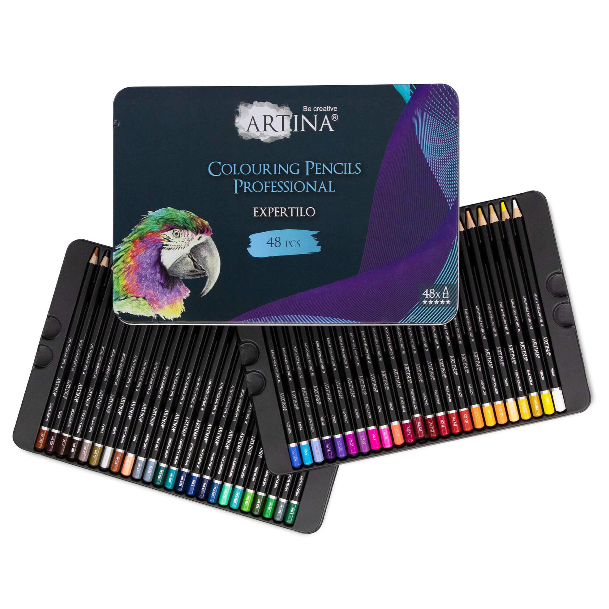 48er Set Artina Buntstifte Expertilo Professionell Farbstifte FSC® Zertifikat