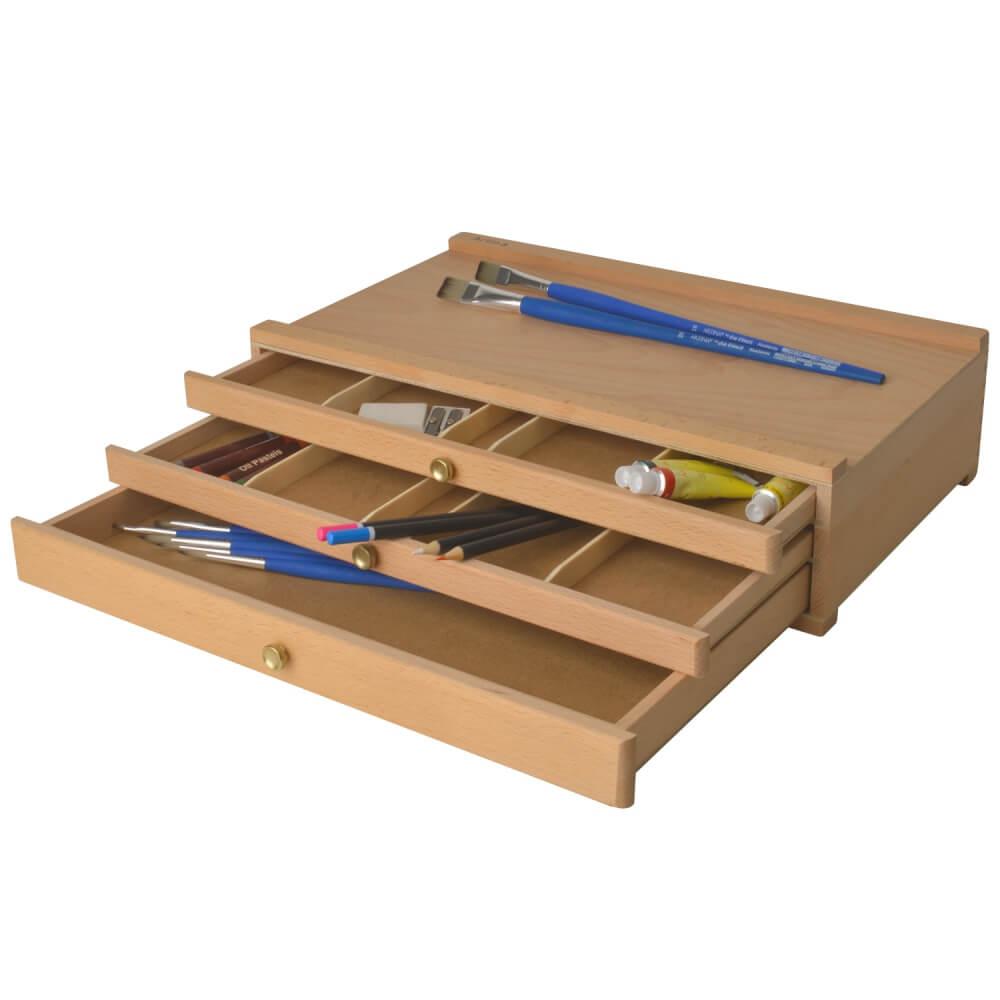 Artina Holzkasten Troyes Holzkoffer mit 3 Schubladen