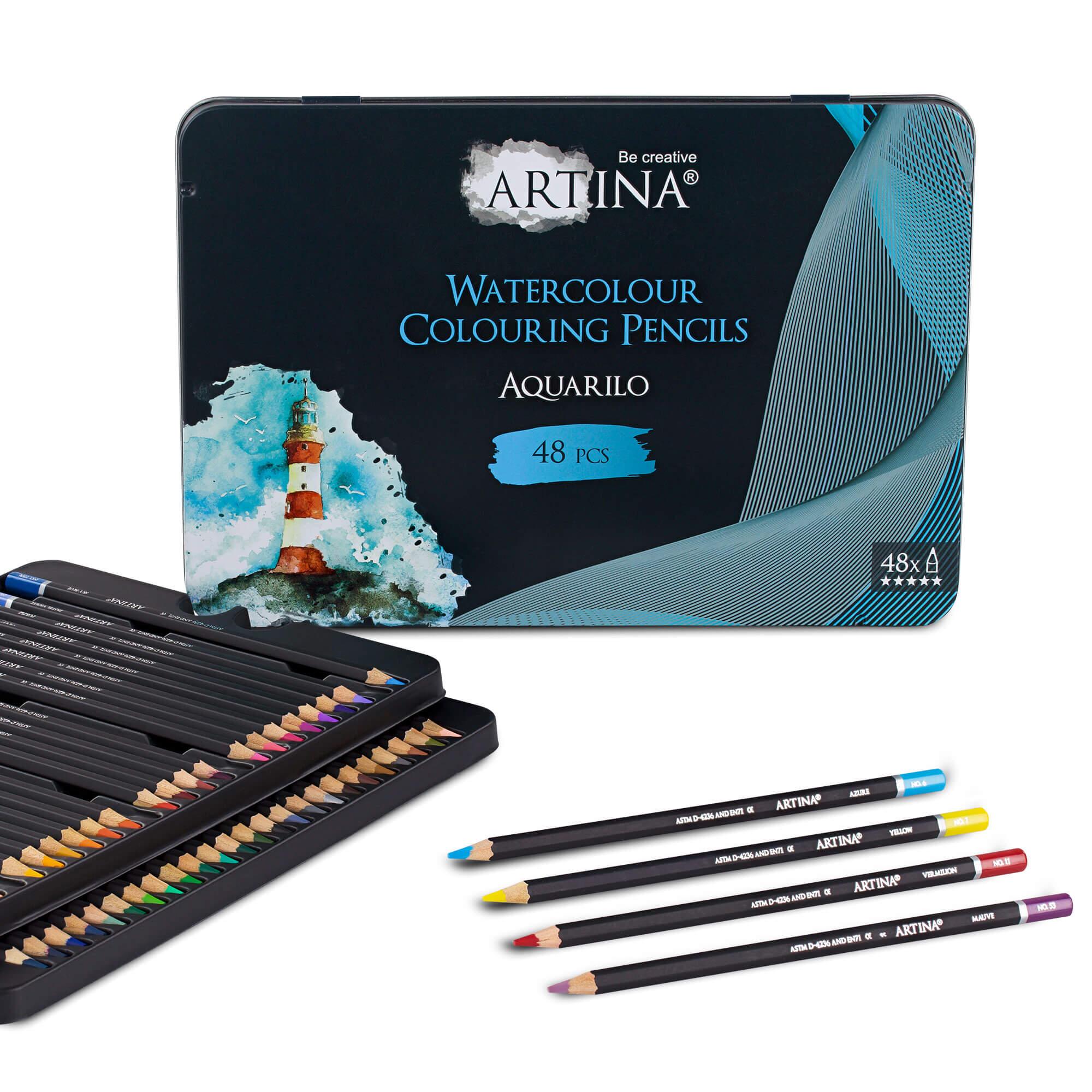 48er Set Artina Aquarell Buntstifte Aquarilo Farbstifte FSC® Zertifikat