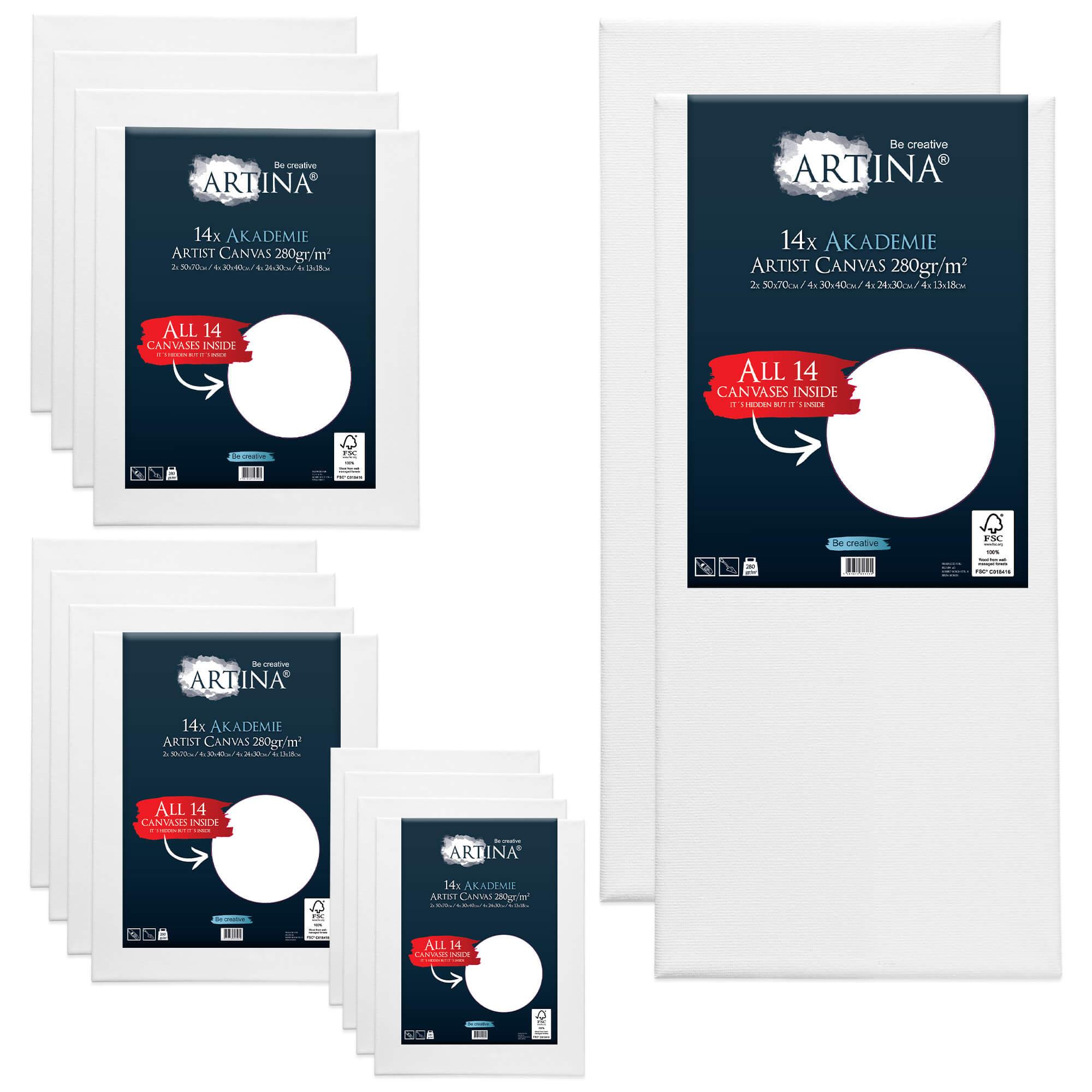14er Keilrahmen Set Artina mit FSC®-Zertifizierung
